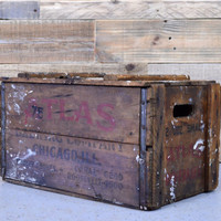 RARE Vintage Beer Crate, Atlas Brewing Company, Wood Beer Crate, Chicago Decor, Breweriana