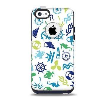 The Nautical Vector Shapes Skin for the iPhone 5c OtterBox Commuter Case