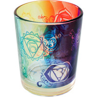 Printed Glass Votive Holder - Chakras