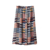 Summer Women's Fashion Split Pleated Skirt [4920273732]