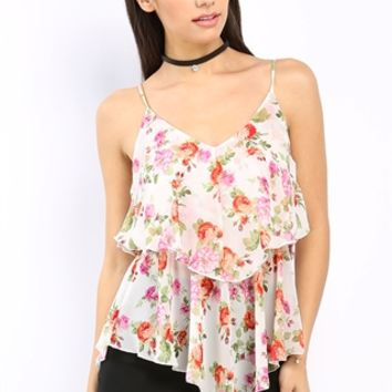 Chiffon Floral Patterned Top