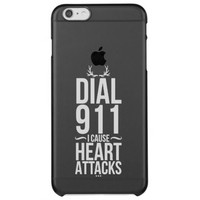 Dial 911 I Cause Uncommon Clearly™ Deflector iPhone 6 Plus Case