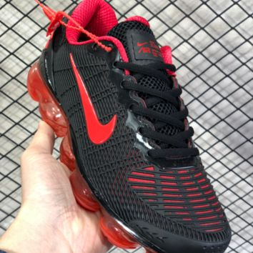 DCCK2 N808 Nike Air Vapormax Flyknit 2019 Nanotechnology Drop Plastic Shock Absorbing Slip-proof and Wear-resistant Sports Shoes Black Red