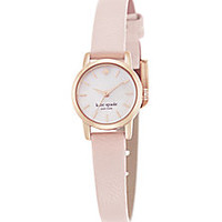 Kate Spade New York - Tiny Metro Mother-Of-Pearl, Rose Goldtone Stainless Steel & Leather Strap Watch - Saks Fifth Avenue Mobile