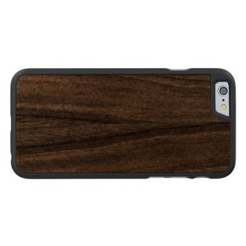 Cool Light Gold Glitter Carved® Walnut iPhone 6 Case