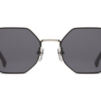 Komono - The Monroe Silver Black Sunglasses