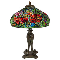 "Tiffany Studios ""Elaborate Peony"" Table Lamp"