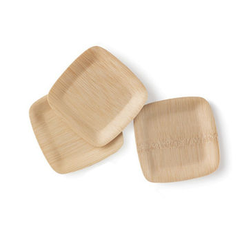 "All Occasion Veneerware® Square Bamboo 5"" Appetizer Plates (package of 100)"