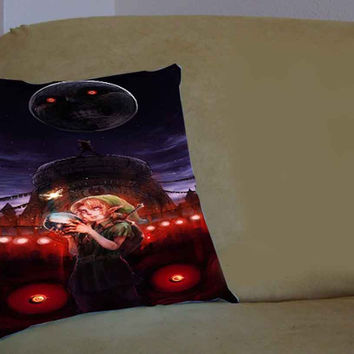 Zelda majora mask - Pillow Case, Pillow Cover, Custom Pillow Case **