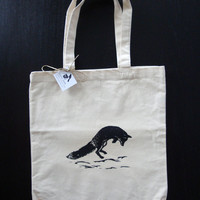 Jumping Fox Tote Bag Black