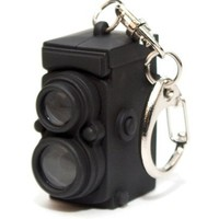 Kikkerland KRL24TC Vintage Camera LED Keychain with Sound