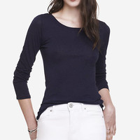 Long Sleeve Crew Neck Tee from EXPRESS