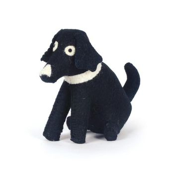 Black Dog Felt Doorstop (Set of 2)