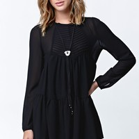Lira Outcast Babydoll Dress - Womens Dress - Black