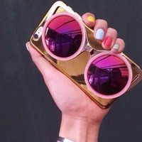 3D Sunglasses Phone Case for Iphone 6 6plus