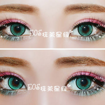 EOS New Adult Green Colored Contact Lenses Circle Lens | EyeCandys.com