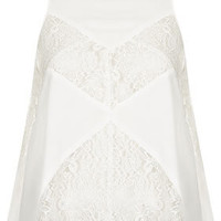 Sleeveless Lace Insert Top - Tops  - Clothing