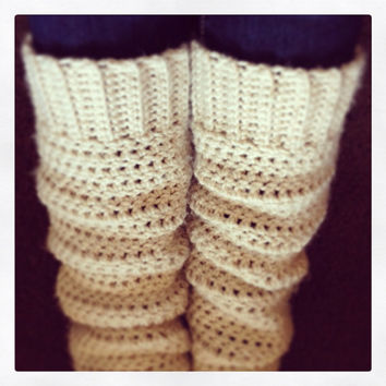 Leg warmers, boot liners, crochet leg warmers