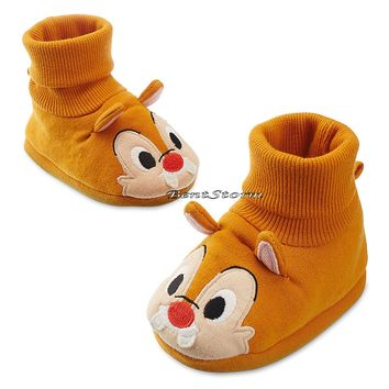 Licensed cool Chip N Dale Red Nose Chipmunk COSTUME BABY Dress Up Shoes SLIPPERS Disney Store