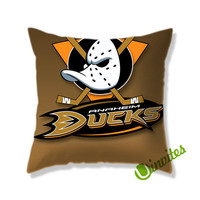 Anaheim Ducks Square Pillow Cover
