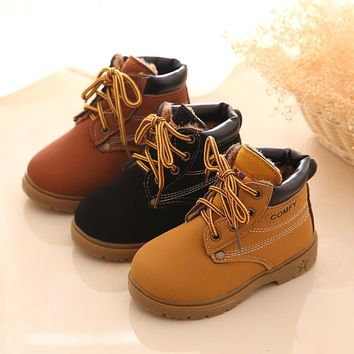 Children's Snow Boots For Girls Boys Warm Martin Boots kids winter Fashion Casual Plush Child Baby Toddler Shoe