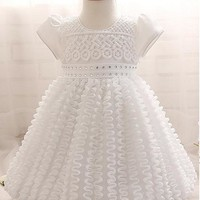 [14.99] In Stock Unique Lace Jewel Neckline Ball Gown Flower Girl Dresses With Rhinestones - dressilyme.com