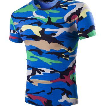 Casual Camouflage Men's Cotton T-Shirt
