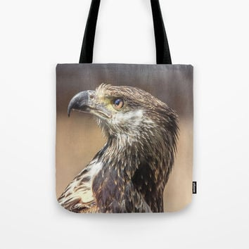 Young African Fish Eagle Tote Bag by Peaky40