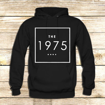 the 1975 t shirt box swag logo facedown rock band music indie on Hoodie Jacket