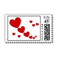 Hearts Stamp from Zazzle.com
