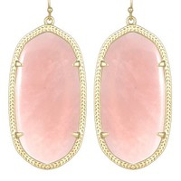 Danielle Statement Earrings in Rose Quartz - Kendra Scott Jewelry