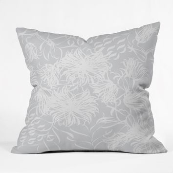 Vy La Calm Breezy Grey Throw Pillow