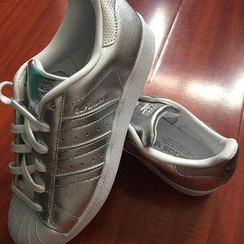 Adidas Superstar Shell Toe Silver Casual Sneakers