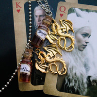 Fire and Blood House Targaryen Necklace from Game of Thrones