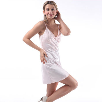 Sleep Dress Sexy Satin Sleepwear Silk Nightgown Women Nightdress Sexy Lingerie Female Nightie