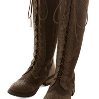 ModCloth Steampunk Stylish Amalgam Boot in Brown
