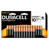 Duracell® Coppertop Alkaline AAA Batteries, Pack Of 24 Item # 545469