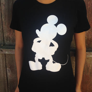 Mickey Mouse black T-shirt - women's