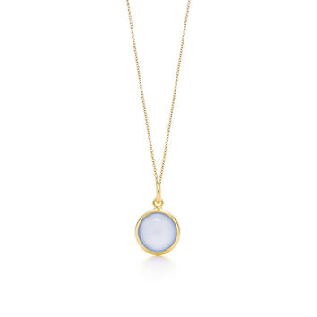 Tiffany & Co. - Paloma Picasso®:blue chalcedony dot charm and chain