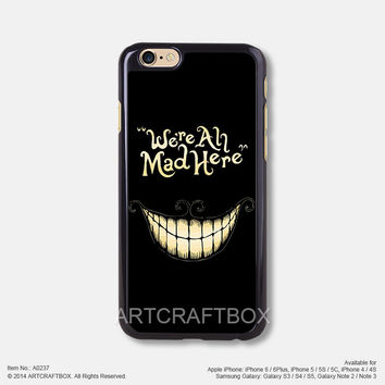 We are all mad here iPhone Case Black Hard case 237