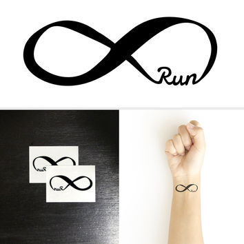 Forever Run for Runners Temporary Tattoo (6 Pieces)