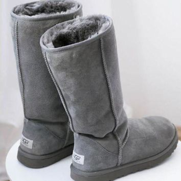 PEAPON UGG' Women Classic Tall Gray Boots