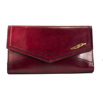 Linda Vintage Leather Clutch Bag