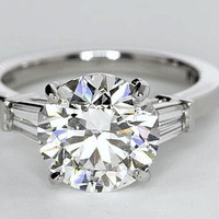 2.86ct H-VS1 Round Diamond Engagement Ring GIA certified JEWELFORME BLUE 900,000 GIA EGL Platinum