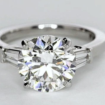 2.82ct G-VS1 Round Diamond Engagement Ring GIA certified JEWELFORME BLUE 900,000 GIA EGL Platinum