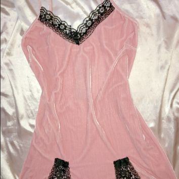 SWEET LORD O'MIGHTY! VELVET BABY DRESS IN PINK