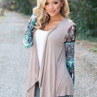 Silk Beauty Cardigan Mocha