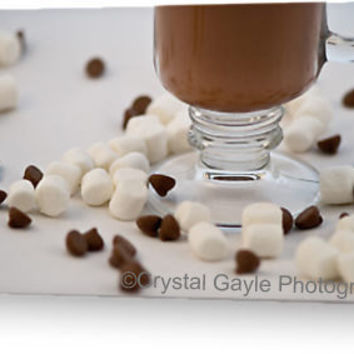 Hot Chocolate Greeting Card Fine Art Photography blank holiday note card