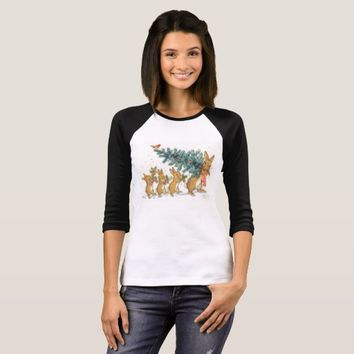 Vintage, Molly Brett, Rabbit Christmas. T-Shirt