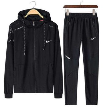 ESB2N NIKE Sports suit, a long sleeve jacket, leisure sports training clothes two piece Tagre-
